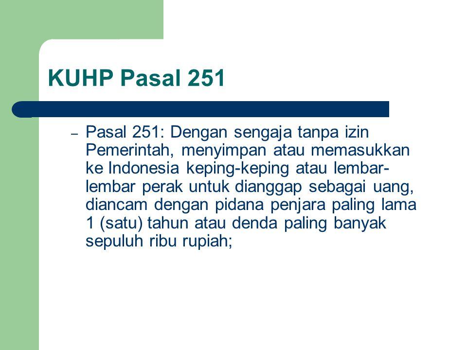 KUHP Pasal 251
