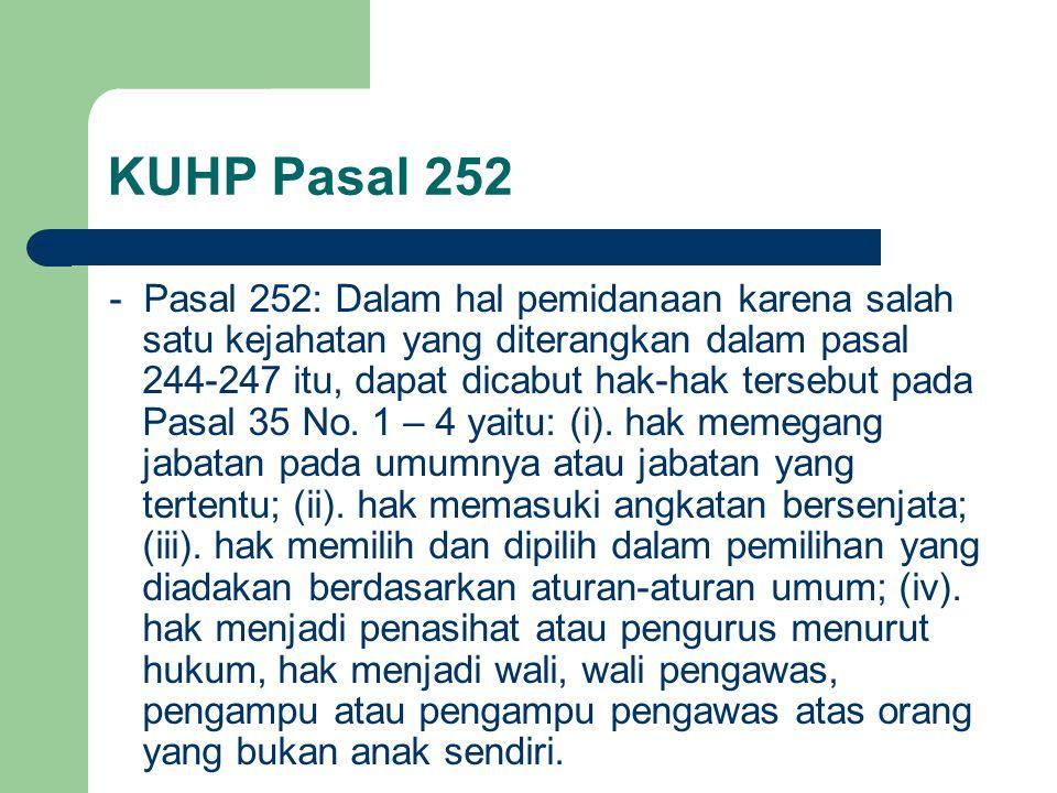 KUHP Pasal 252