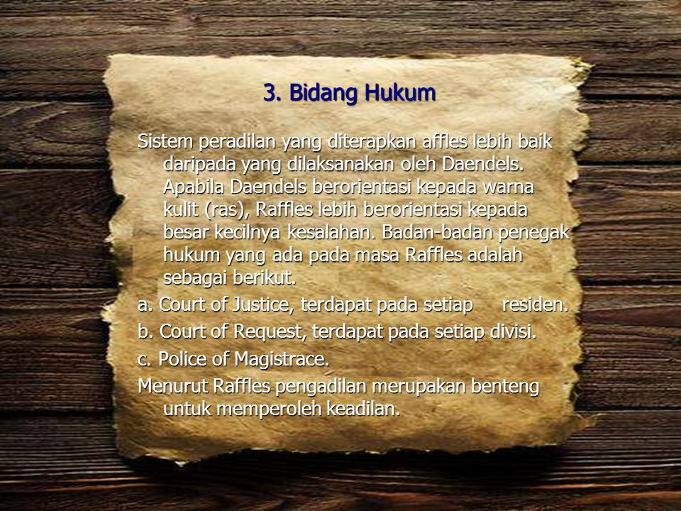 3. Bidang Hukum