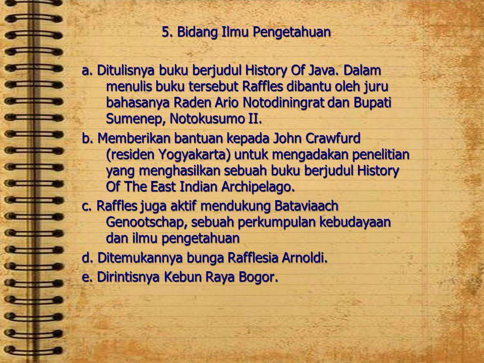 5. Bidang Ilmu Pengetahuan