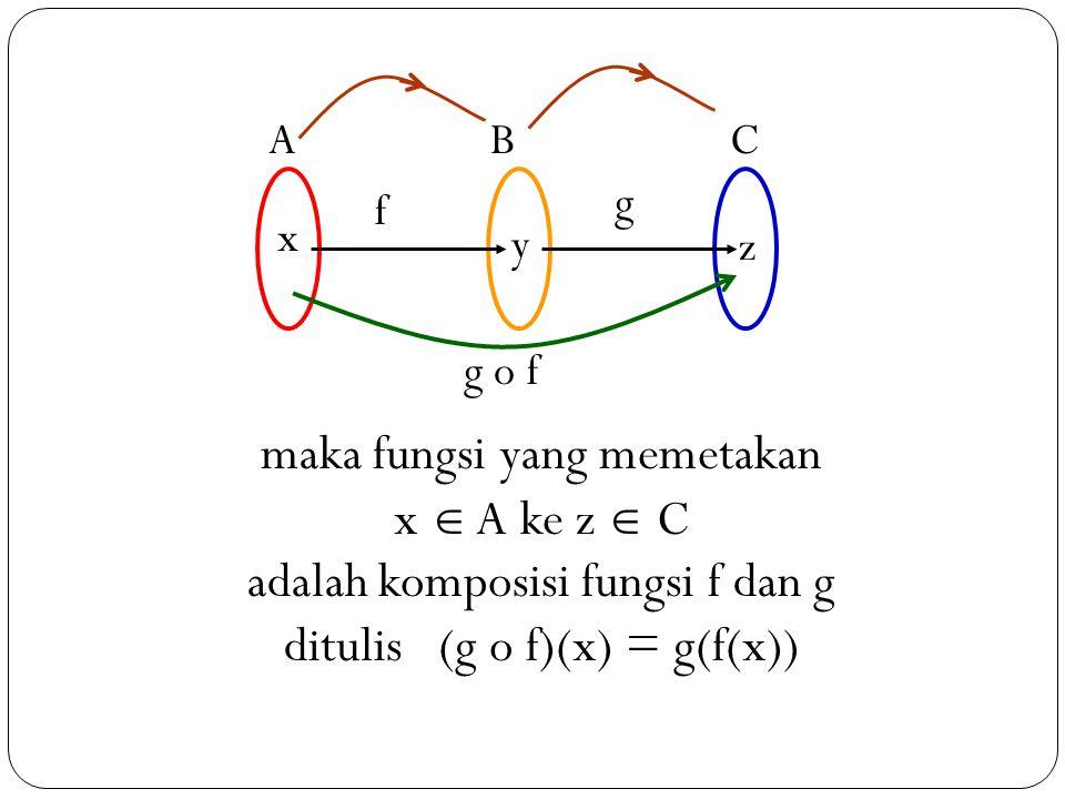 maka fungsi yang memetakan x  A ke z  C