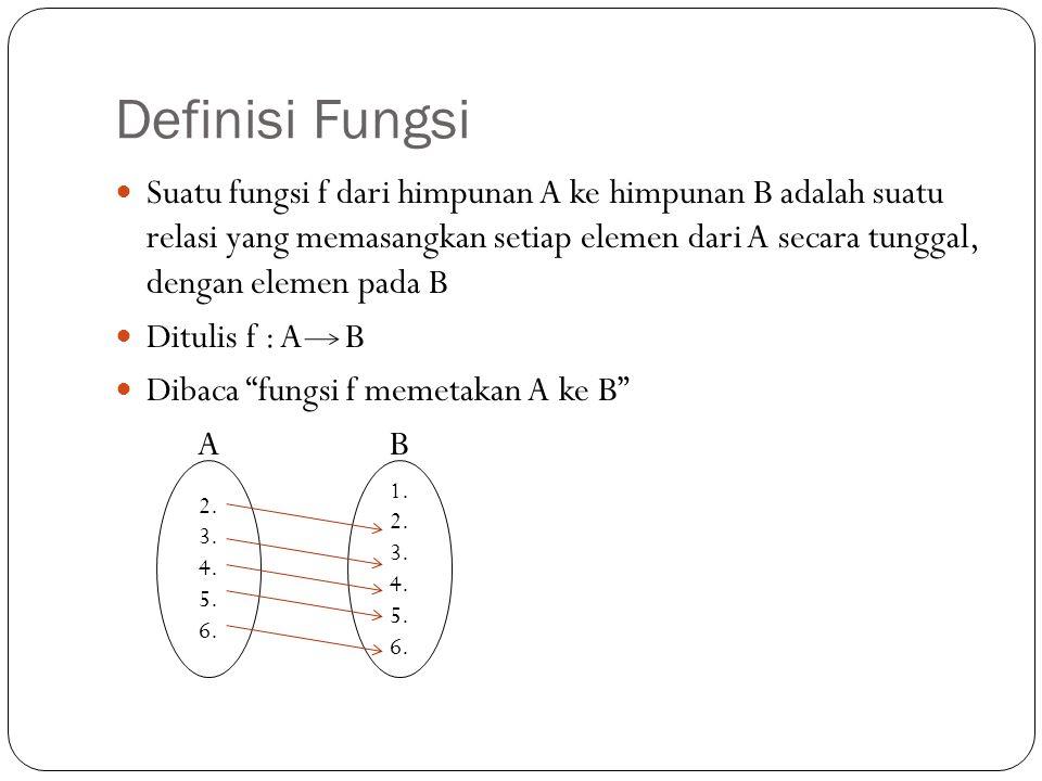 Definisi Fungsi