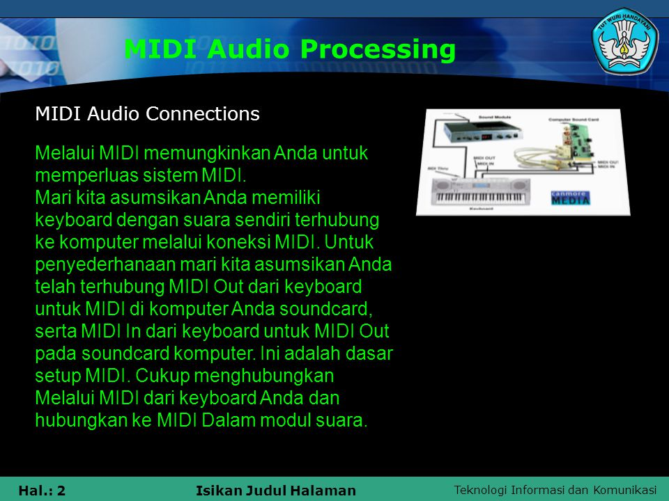 MIDI Audio Processing MIDI Audio Connections