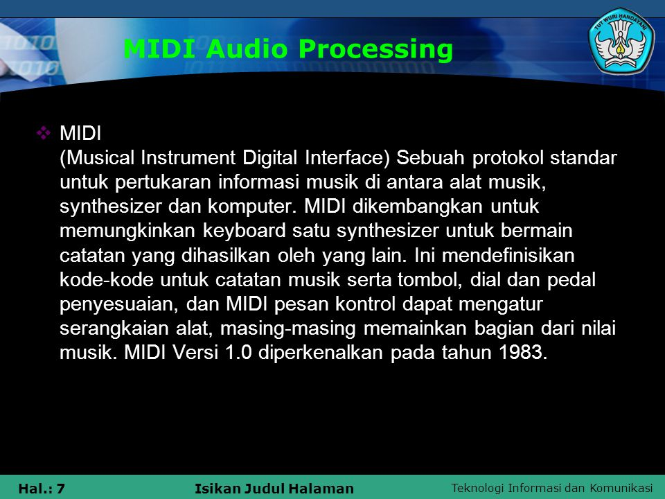 MIDI Audio Processing