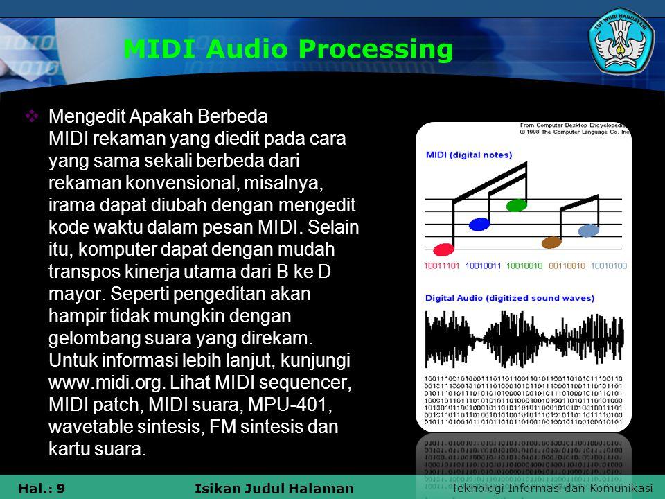 MIDI Audio Processing