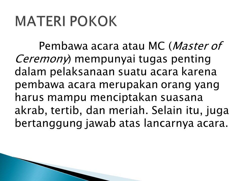MATERI POKOK