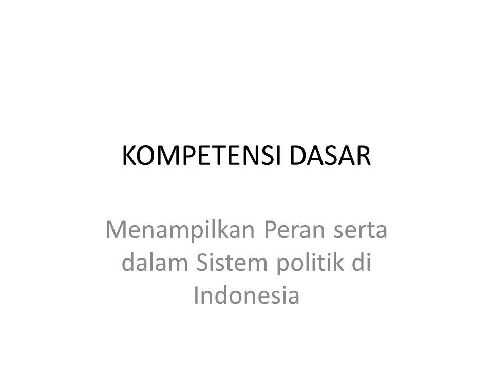 Menampilkan Peran serta dalam Sistem politik di Indonesia