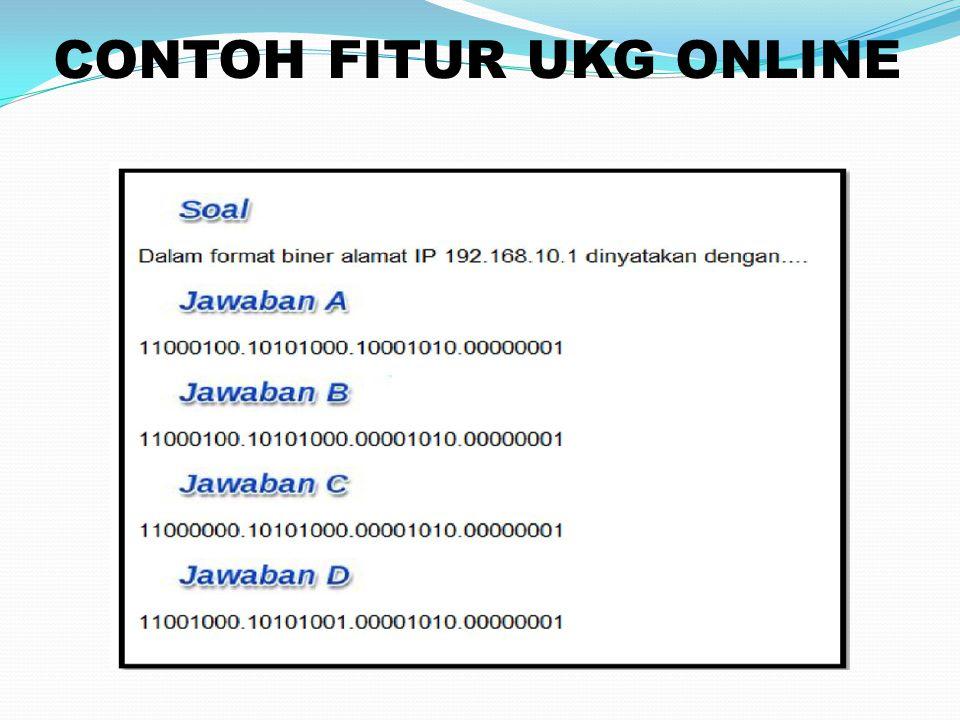 CONTOH FITUR UKG ONLINE