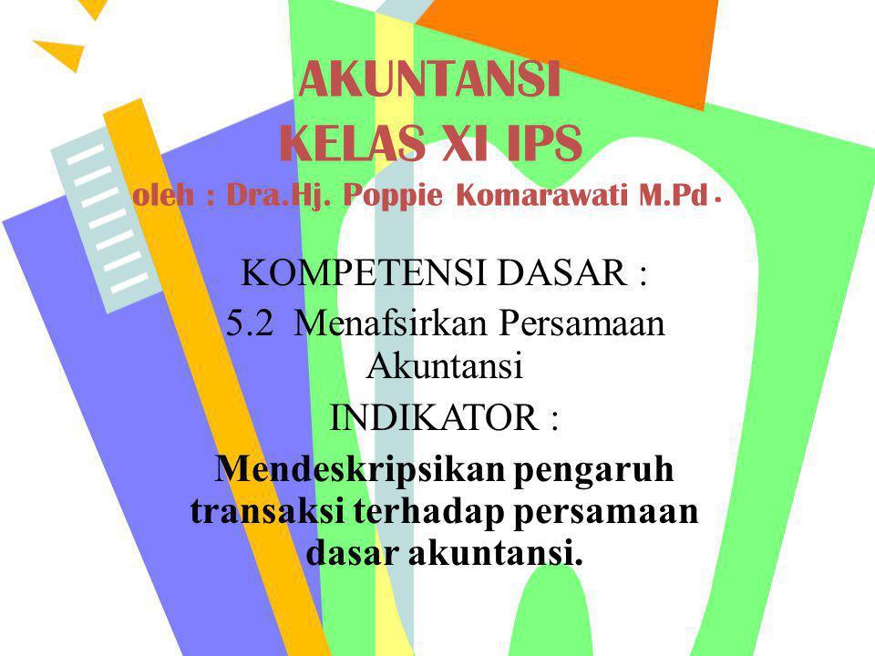 AKUNTANSI KELAS XI IPS oleh : Dra.Hj. Poppie Komarawati M.Pd.