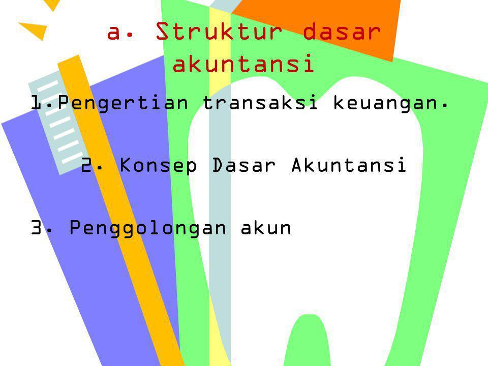 a. Struktur dasar akuntansi