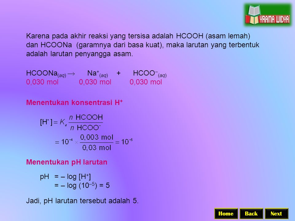 HCOONa(aq)  Na+(aq) + HCOO–(aq) 0,030 mol 0,030 mol 0,030 mol