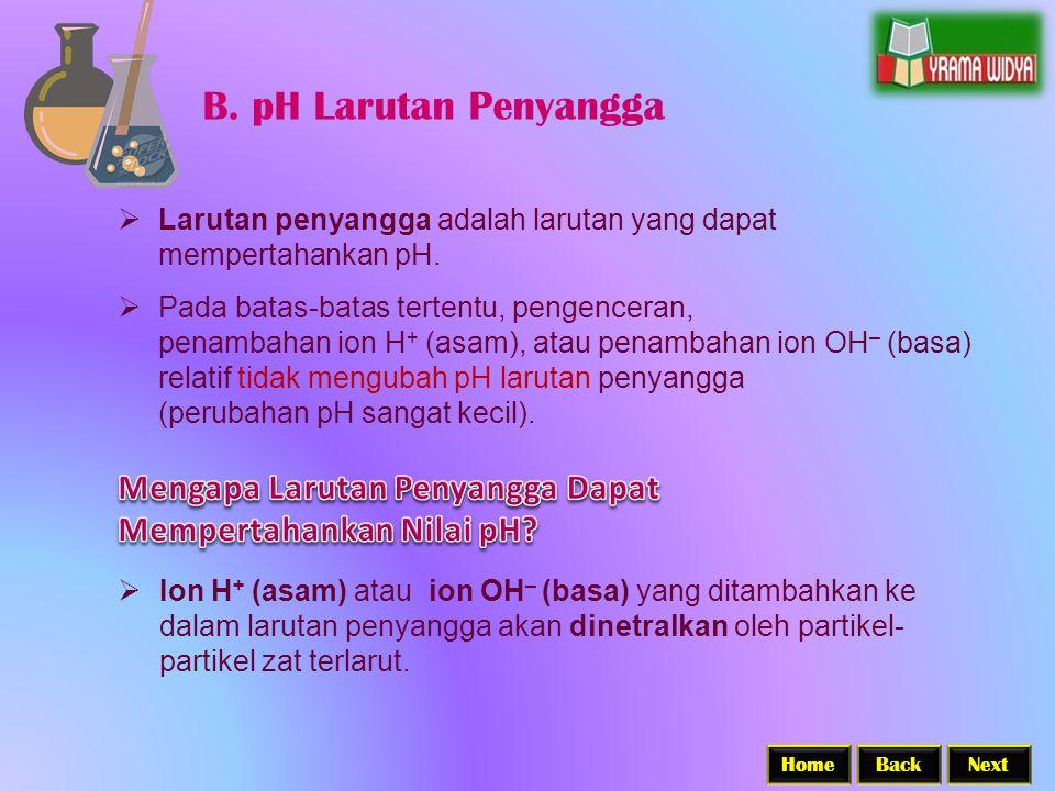 B. pH Larutan Penyangga Mengapa Larutan Penyangga Dapat