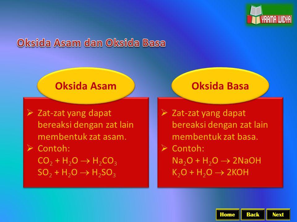 Oksida Asam Oksida Basa