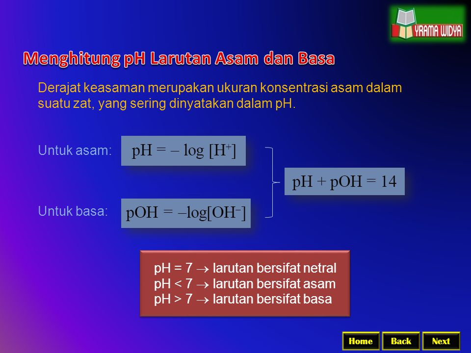 Menghitung pH Larutan Asam dan Basa