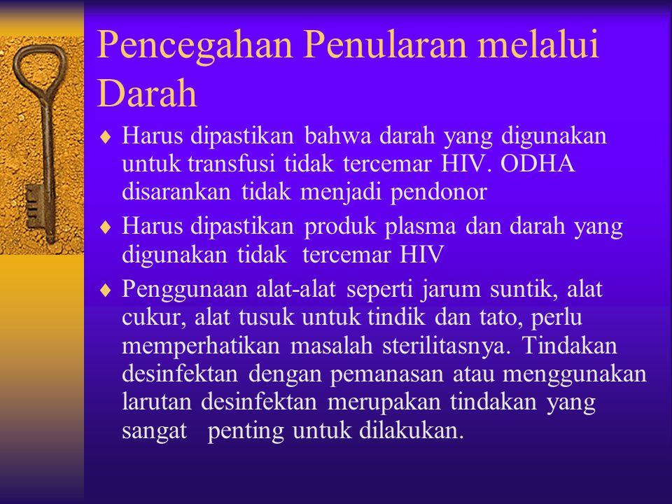 Pencegahan Penularan melalui Darah