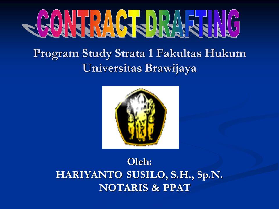 Program Study Strata 1 Fakultas Hukum Universitas Brawijaya