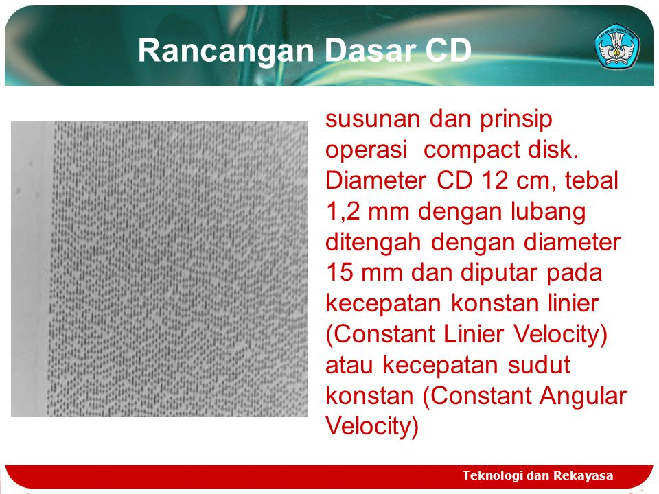 Rancangan Dasar CD