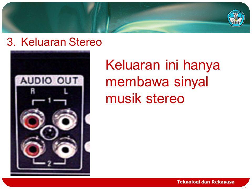 Keluaran ini hanya membawa sinyal musik stereo