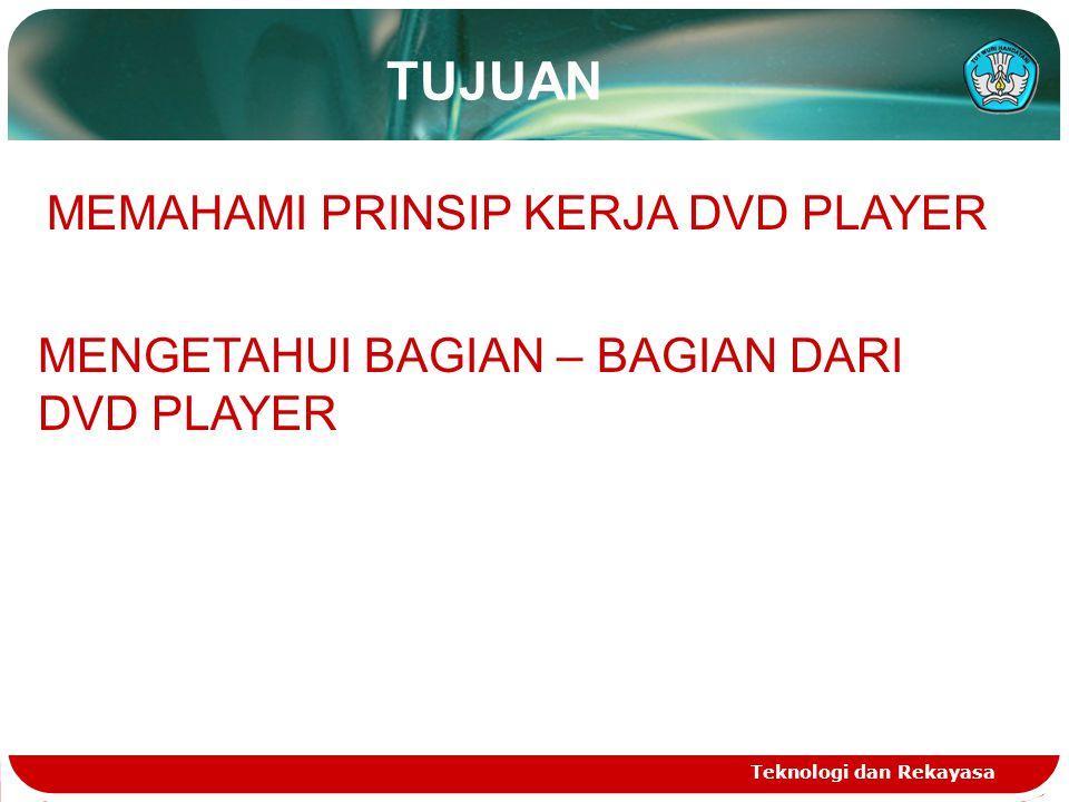 TUJUAN MEMAHAMI PRINSIP KERJA DVD PLAYER