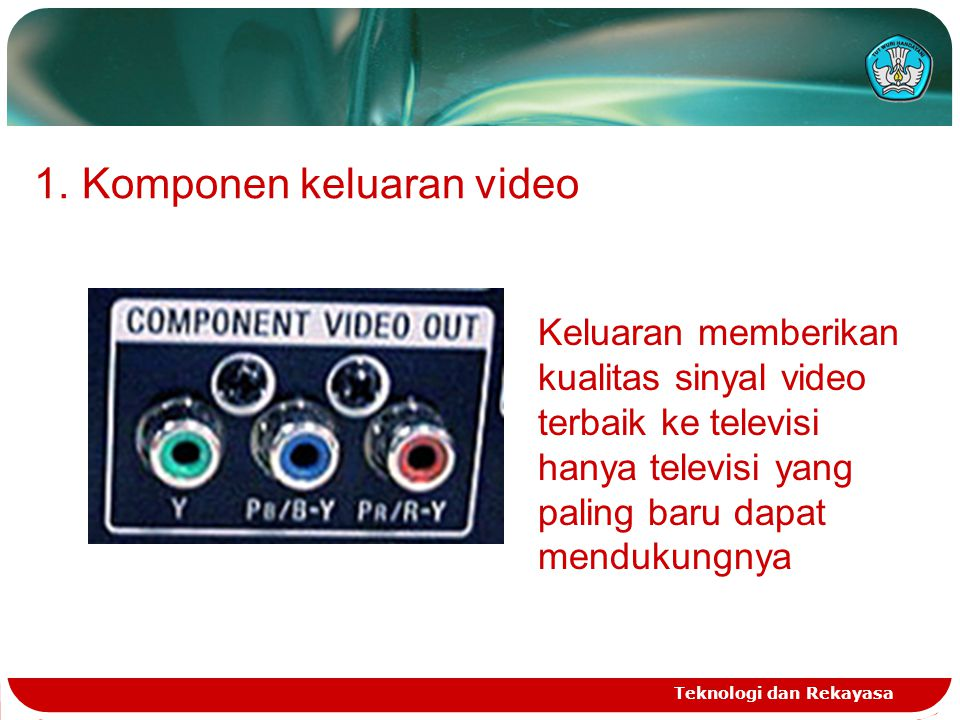 Komponen keluaran video