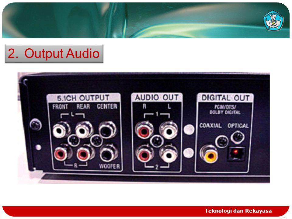 Output Audio Teknologi dan Rekayasa