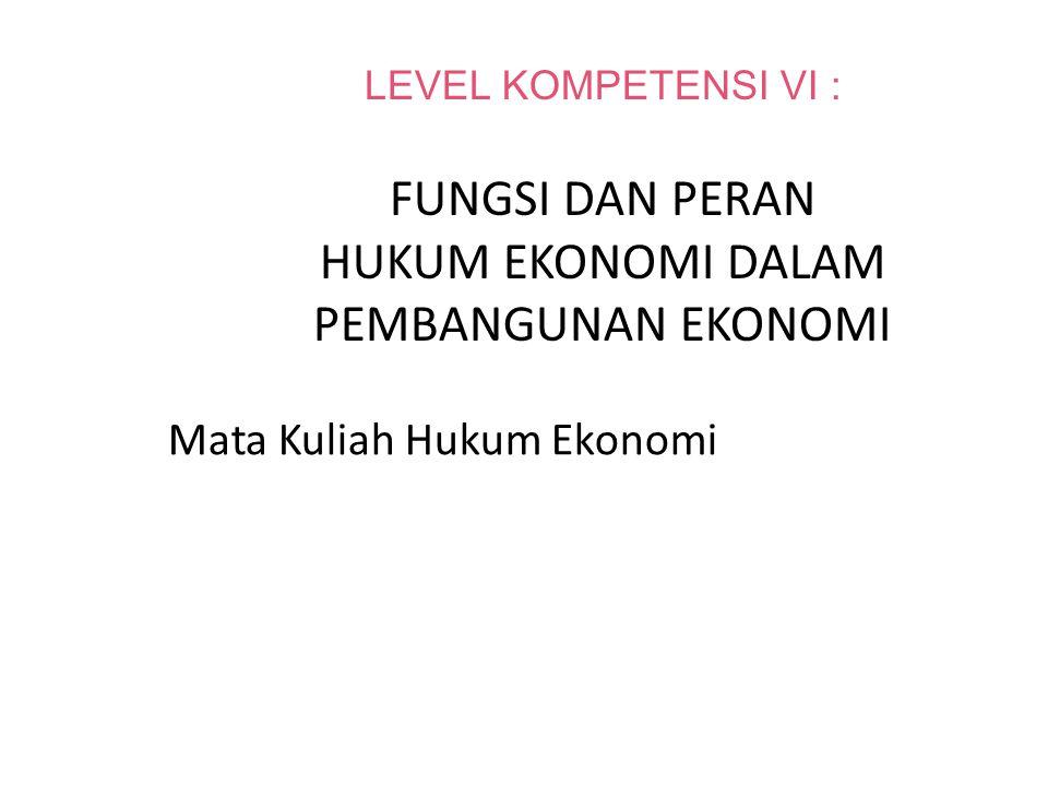 Mata Kuliah Hukum Ekonomi
