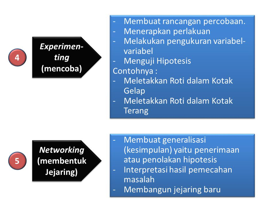 Membuat rancangan percobaan.