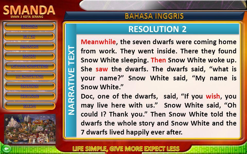 RESOLUTION 2 NARRATIVE TEXT
