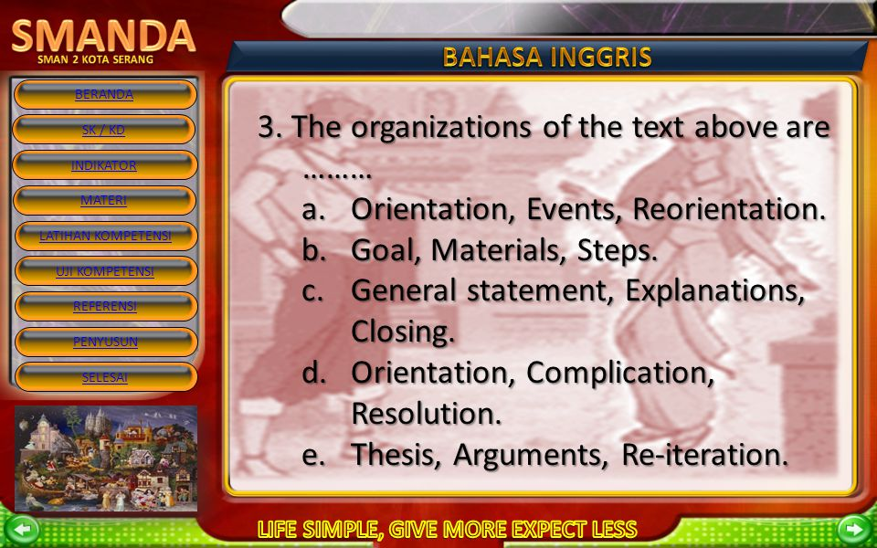3. The organizations of the text above are ………