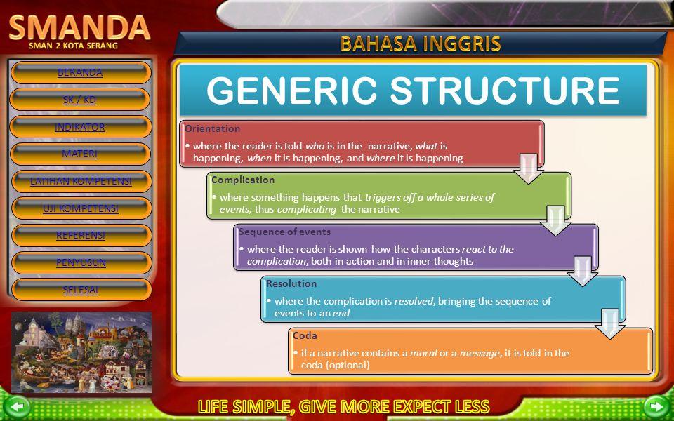 GENERIC STRUCTURE Orientation