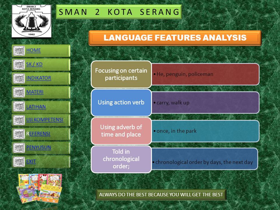 LANGUAGE FEATURES ANALYSIS