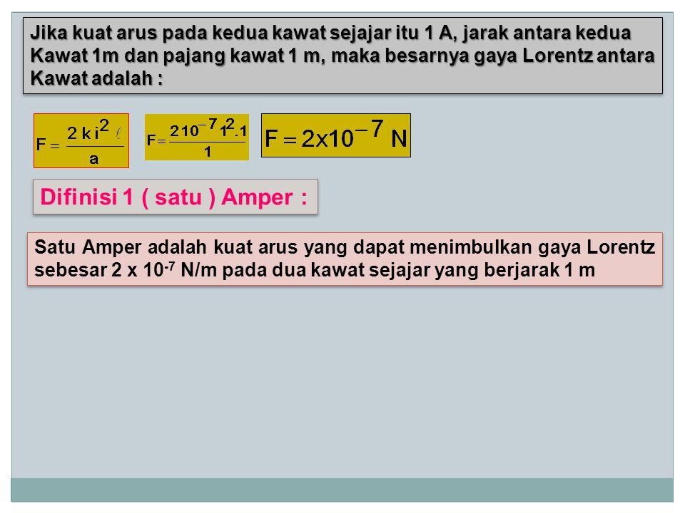 Difinisi 1 ( satu ) Amper :