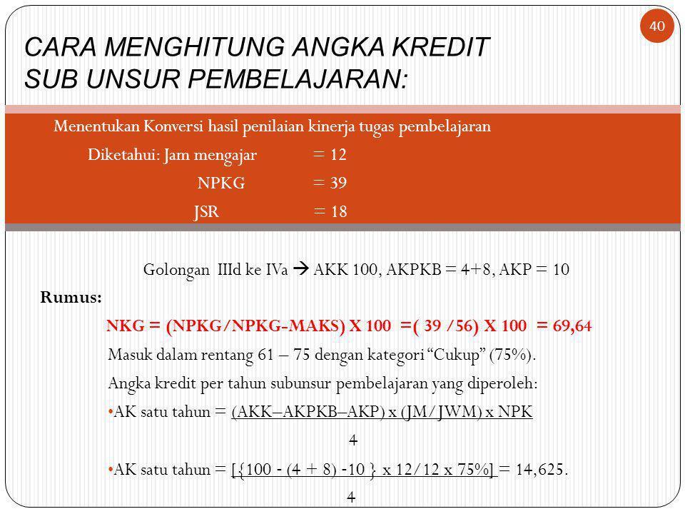 NKG = (NPKG/NPKG-MAKS) X 100 =( 39 /56) X 100 = 69,64