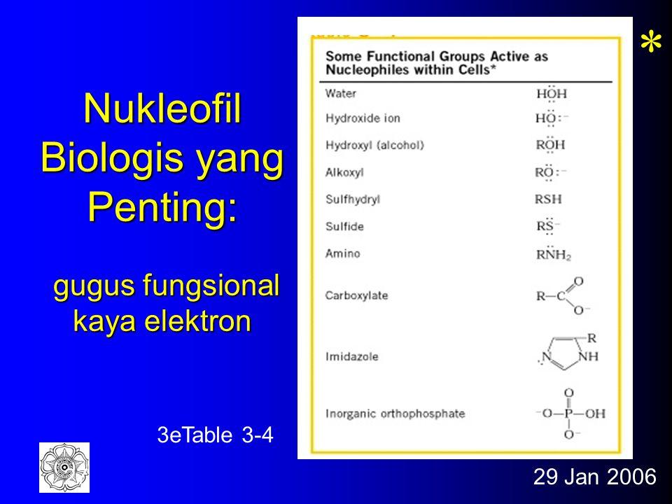 Nukleofil Biologis yang Penting: gugus fungsional kaya elektron