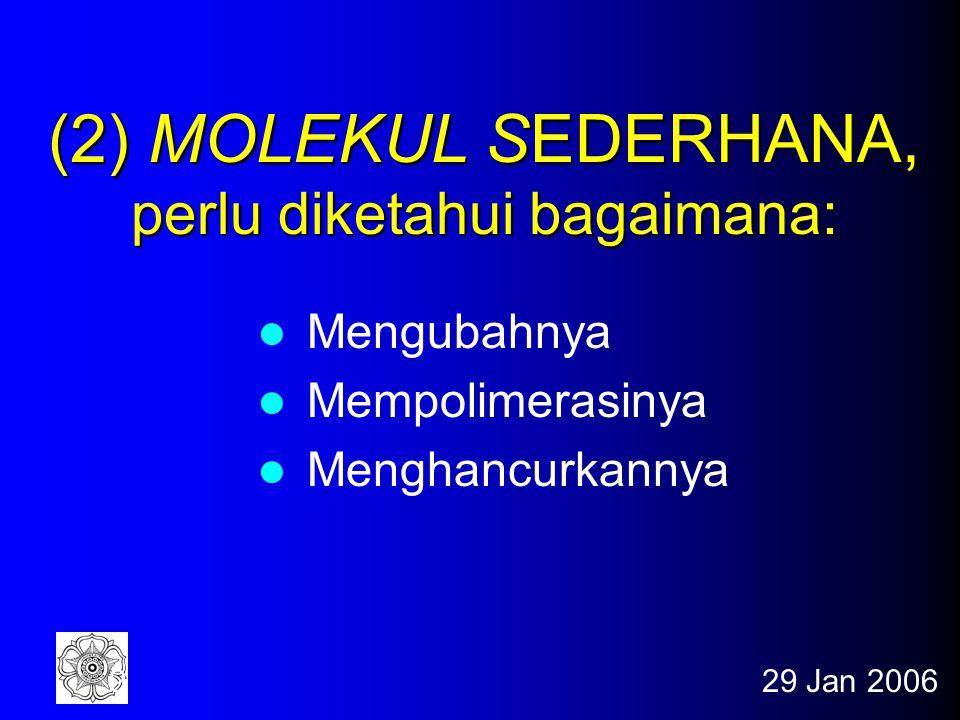 (2) MOLEKUL SEDERHANA, perlu diketahui bagaimana:
