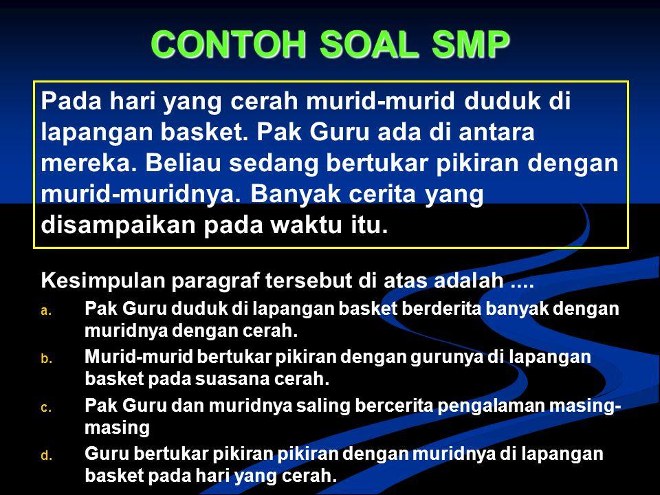 CONTOH SOAL SMP