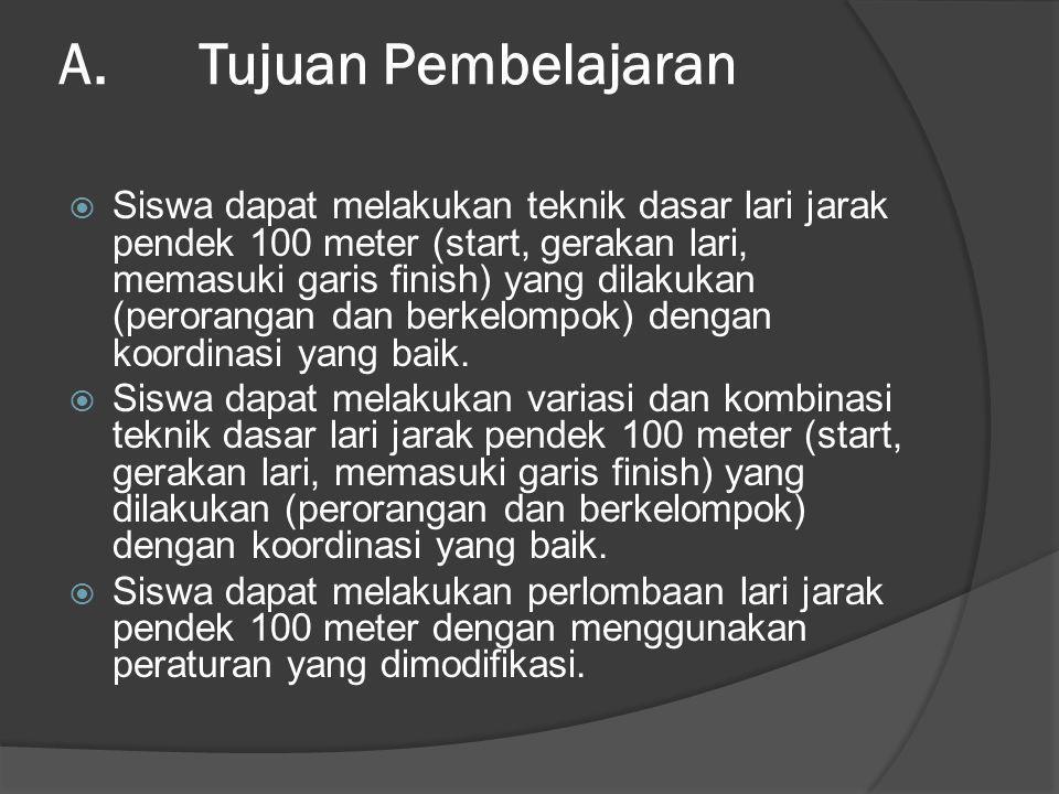 A. Tujuan Pembelajaran
