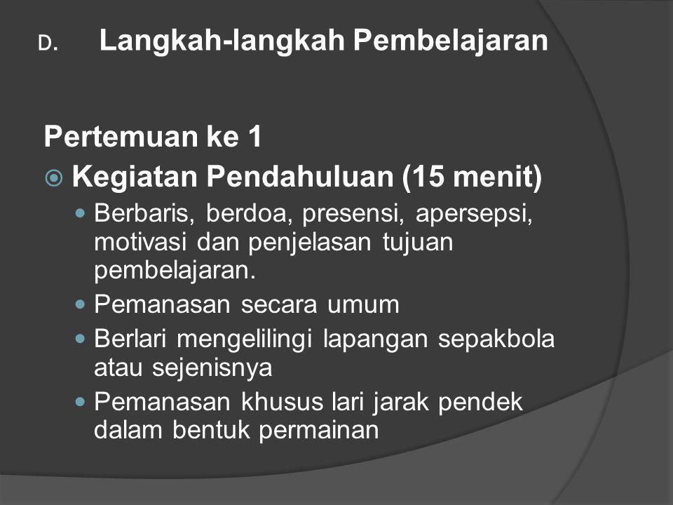 D. Langkah-langkah Pembelajaran