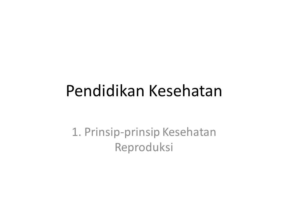 1. Prinsip-prinsip Kesehatan Reproduksi