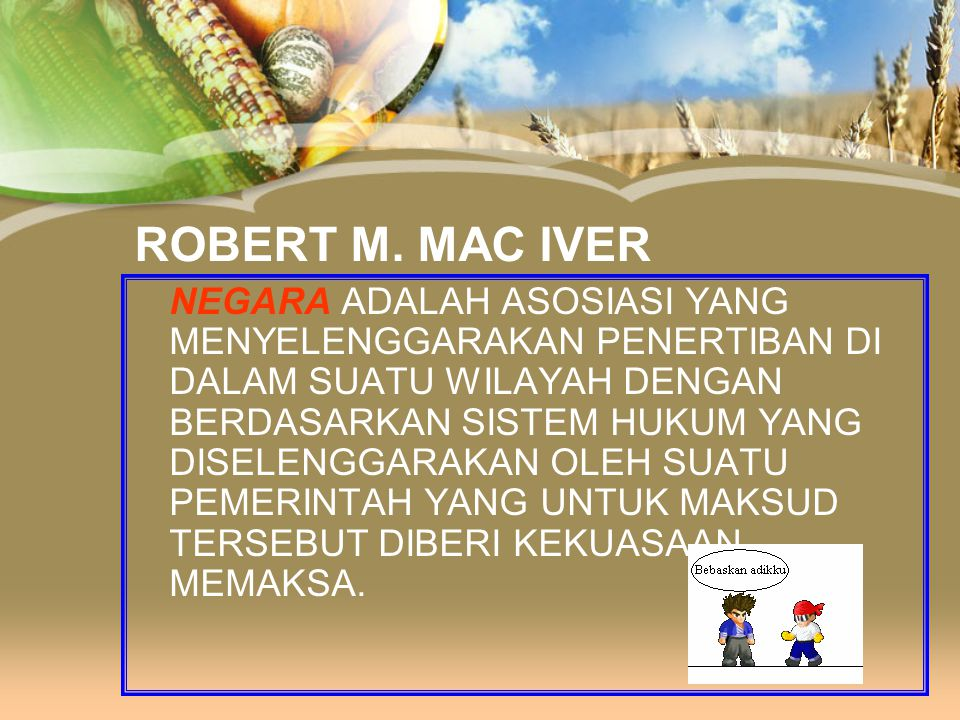 ROBERT M. MAC IVER