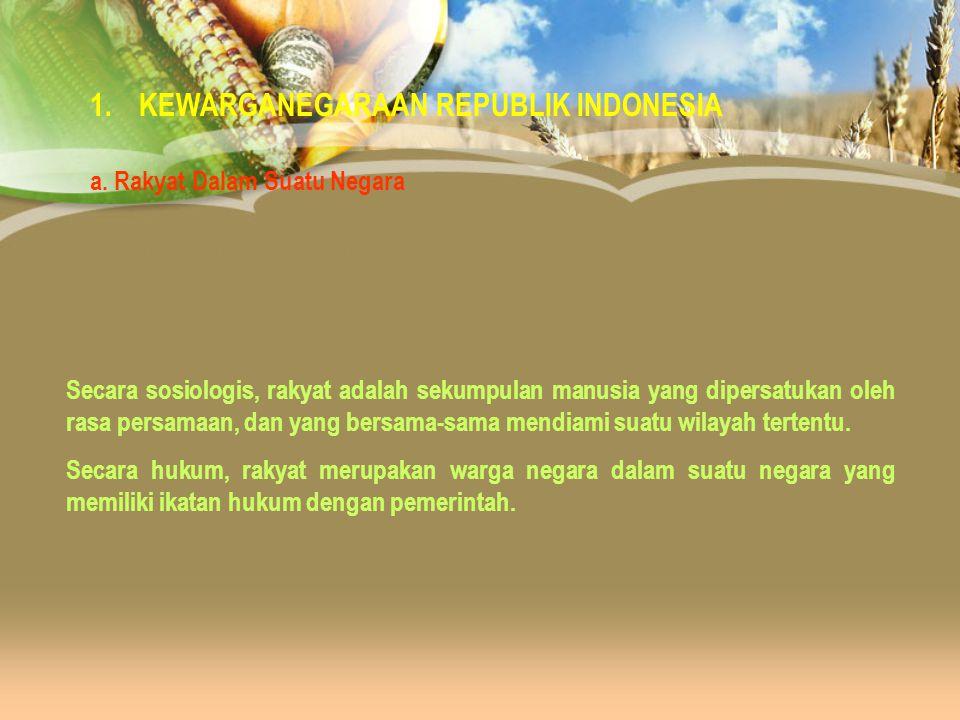 KEWARGANEGARAAN REPUBLIK INDONESIA