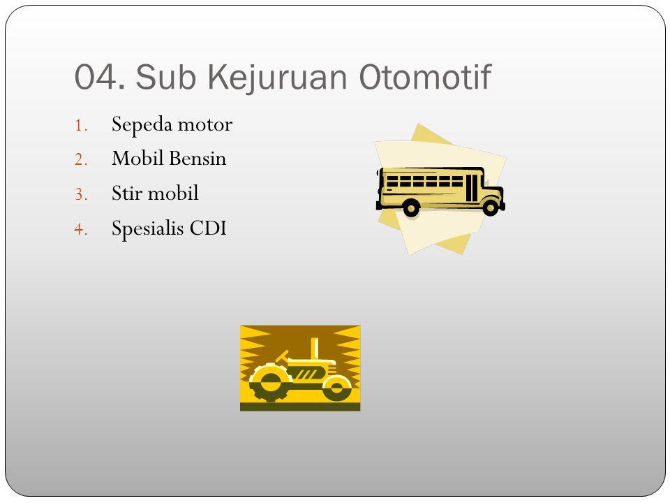 04. Sub Kejuruan Otomotif Sepeda motor Mobil Bensin Stir mobil