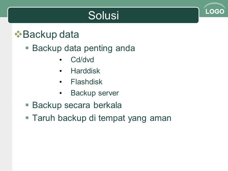 Solusi Backup data Backup data penting anda Backup secara berkala