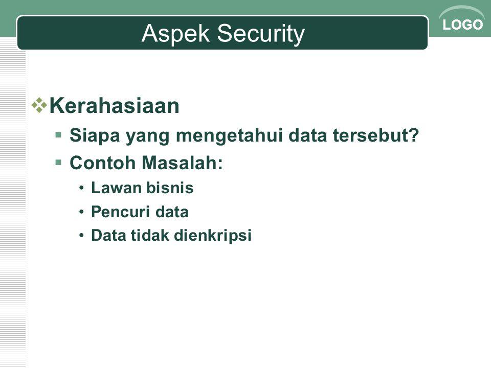 Aspek Security Kerahasiaan Siapa yang mengetahui data tersebut