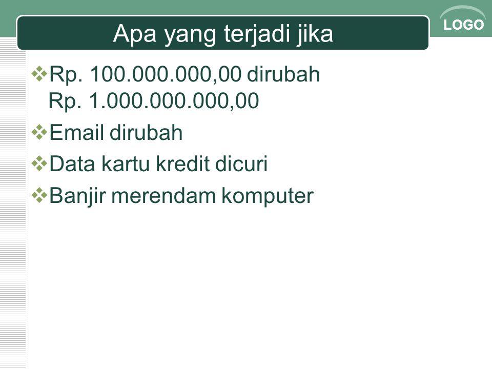 Apa yang terjadi jika Rp. 100.000.000,00 dirubah Rp. 1.000.000.000,00