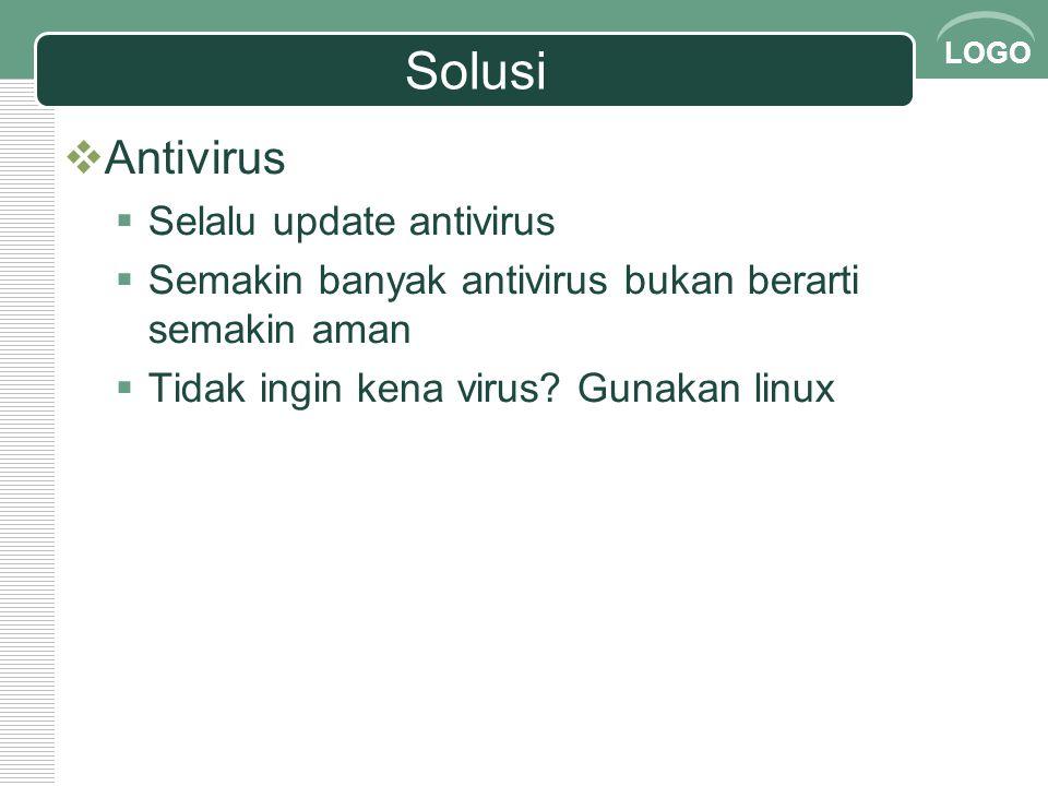 Solusi Antivirus Selalu update antivirus
