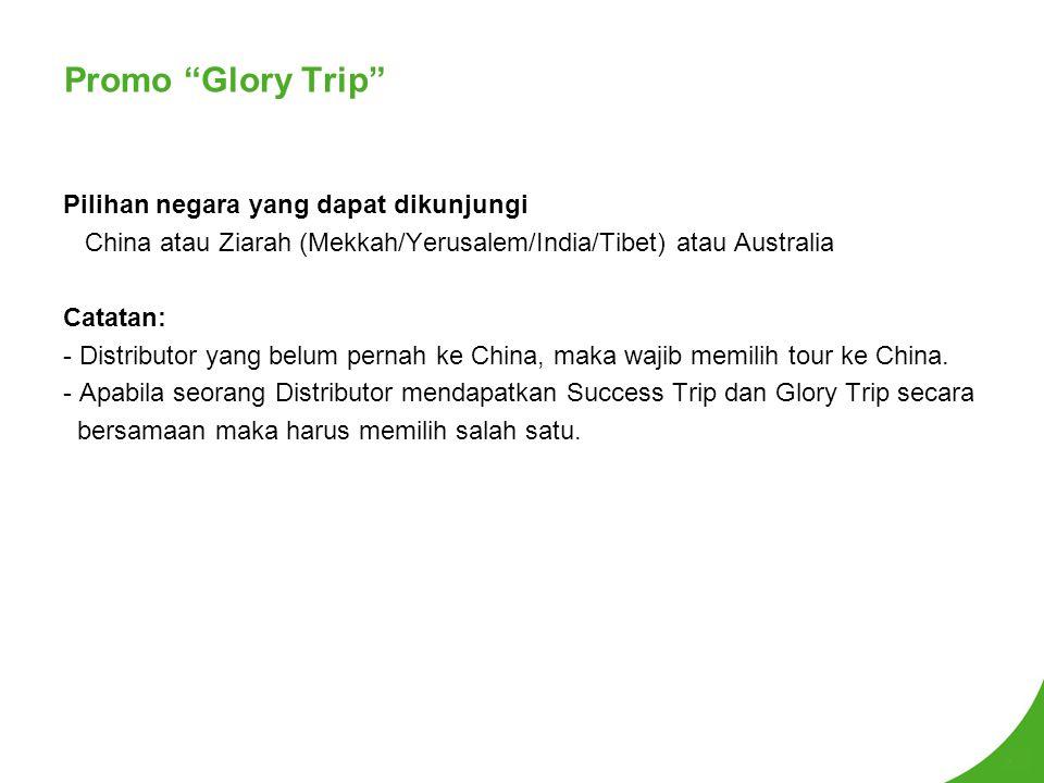 Promo Glory Trip Pilihan negara yang dapat dikunjungi
