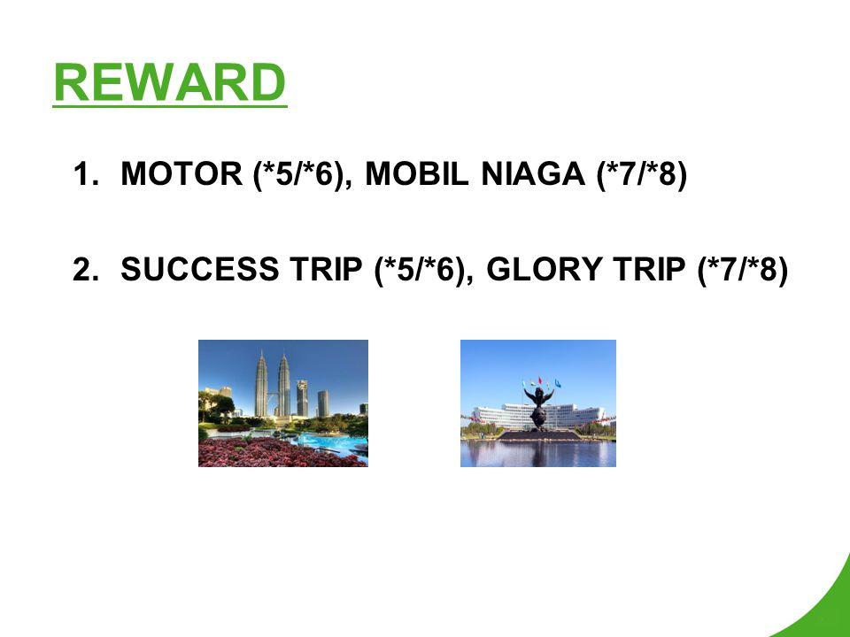 REWARD MOTOR (*5/*6), MOBIL NIAGA (*7/*8)