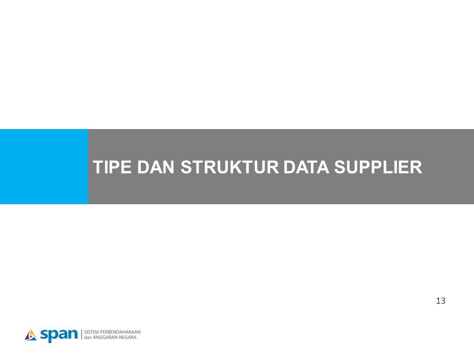 TIPE DAN STRUKTUR DATA SUPPLIER