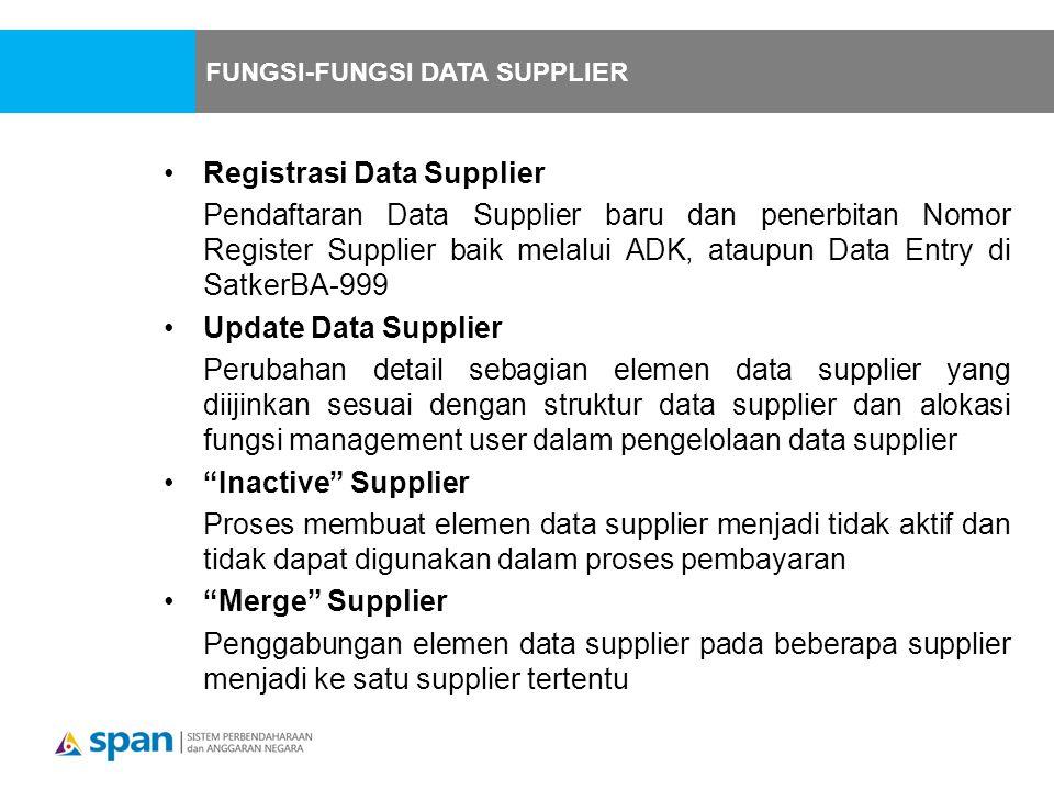 Registrasi Data Supplier